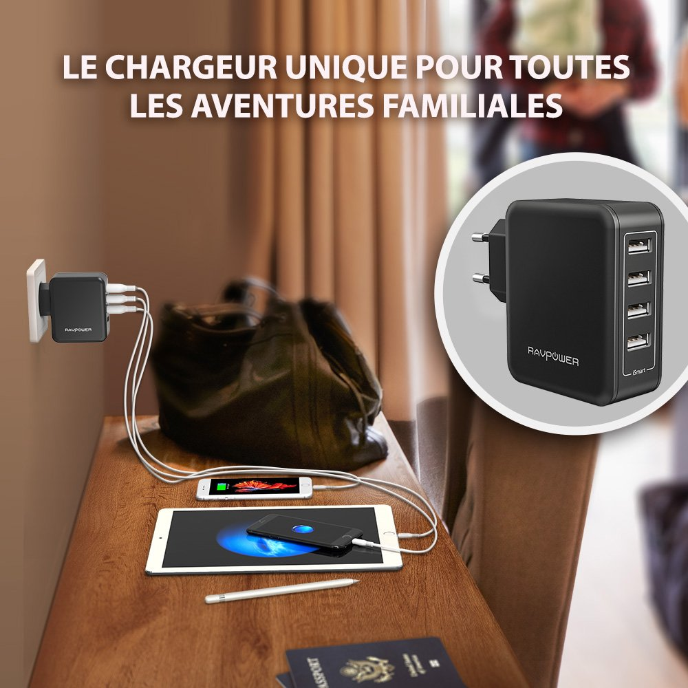 chargeur mural usb
